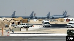 A general view of the Udeid U.S. military base, 35 kilometers south of Doha (file photo)
