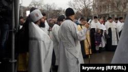 Молебень на Різдво Христове в Севастополі. Архівне фото