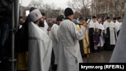 Молебен на Рождество Христово в Севастополе. Архивное фото
