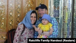 Britain reportedly does not want to directly link the payment to the release of jailed charity worker Nazanin Zaghari-Ratcliffe (left, with husband and daughter).