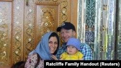 Nazanin Zaghari-Ratcliffe ailəsiylə birlikdə, arxiv fotosu