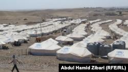 Pamje e një kampi të refugjatëve të Kombeve të Bashkuara