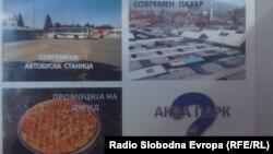 """Во Охрид се појавија флаери наменети за градоначалникот Александар Петрески со содржина """"Спакувај си ги куферите и оди си""""."""
