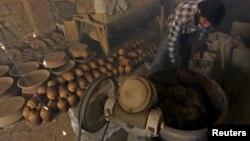 Гончарная мастерская в провинции Идлиб, ноябрь 2015 г.