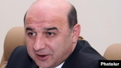 Armenia - Energy and Natural Resources Minister Armen Movsisian.