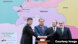 CASA -1000 энергетикалык долбоорунун ачылыш аземи, Тажикстан, Турсунзаде,13-май 2016-жыл.
