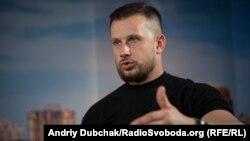 Андрій Білецький у студії Радіо Свобода