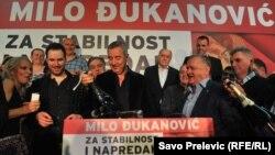 Мило Ѓукановиќ по претседателските избори во Црна Гора, Подгорица, 15.04.2018.