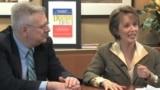 Jim Rosapepe și Sheilah Kast vorbind despre ultima lor carte