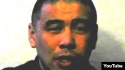 Скриншот с видеозаписи заключенного Куаныша Каниева.