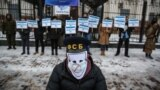 "UKRAINE - action under the Russian embassy in Kyiv ""Silent knowledge or investigation is carried out by criminals"""