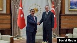 Rustam Minnikhanov Ankarada Recep Tayyip Erdoğan-la görüşür - 30 aprel 2015