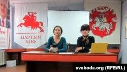 Марына Хоміч і Аляксандра Васілевіч