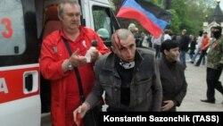 Столкновения в Донецке, 2014 год