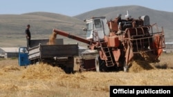Armenia - Wheat harvesting in Gegharkunik province.