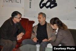 Horia Patapievi, Andrei Ursu și Monica Macovei la conferința de presă de la GDS