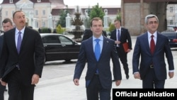 Հայաստանի, Ադրբեջանի եւ Ռուսաստանի նախագահների հանդիպումը Կազանում, 24 հունիս, 2011