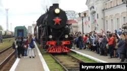 Керчане встретили День освобождения от нацистов «Поездом Победы» (фотогалерея)