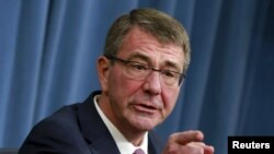 "U.S. Defense Secretary Ash Carter urged Russia to stop ""going backwards,"" end its aggression, and re-engage with the West."