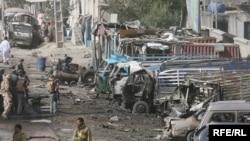 A suicide car bomber killed eight people and wounded more than 50 in Kabul on August 18, one of a string of attacks countrywide.