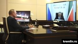 Рөстәм Миңнеханов һәм Владимир Путинның онлайн сөйләшүе