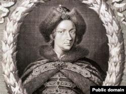 Пётр I. Гравюра, 1698 год