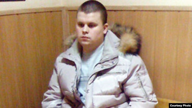 Moscow Police Sergeant Artem Charukhin, who admitted to forging a police report on the arrest of Ilya Yashin