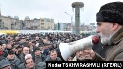 Протест водителей маршруток в Тбилиси. 25 февраля, 2011.