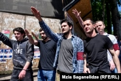 Neo-Nazis gathered in Tbilisi on May 17 to oppose International Day Against Homophobia,Transphobia, And Biphobia.