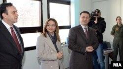 Поранешниот директор на УБК, Сашо Мијалков, поранешната министерка Гордана Јанкулоска и поранешниот премиер Никола Груевски