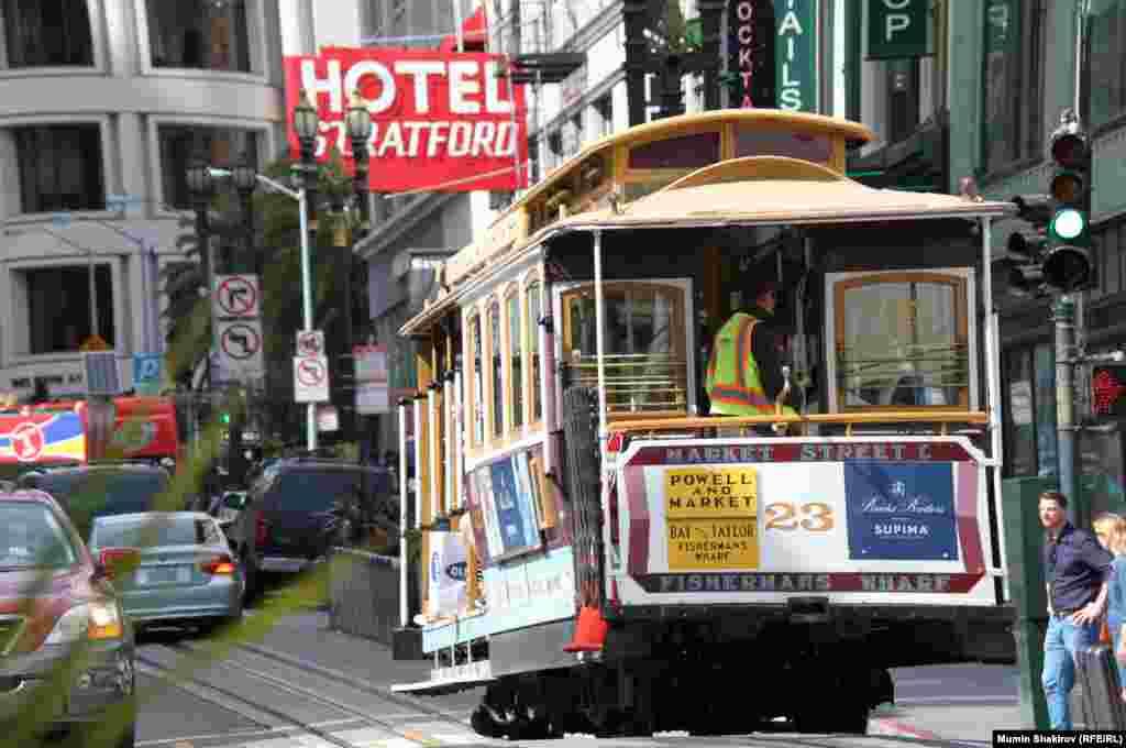 Кабельный трамвай (Cable Car) – популярный вид общественного транспорта Сан-Франциско.