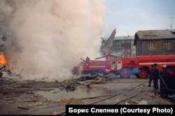 На месте авиакатастрофы в Иркутске-2