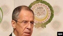 Министр иностранных дел России Сергей Лавров в Египте, 21 декабря 2009 года