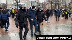 Задержание на Пушкинской площади в Москве, 23 января 2020 года