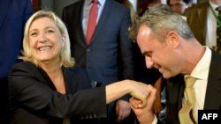 Putin's Pals: France's Marine Le Pen (left) and Austria's Norbert Hofer.