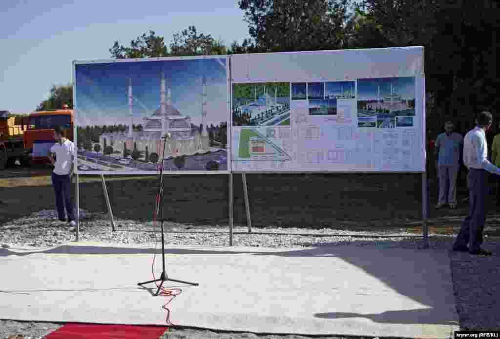 План и эскизы соборной мечети сделали фоном для ораторов