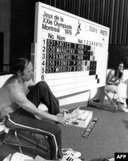Совет спортшысы Борис Онищенко. Монреаль, 19 шілде 1976 жыл