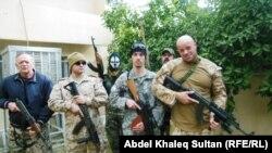 Американские военные и курды-христиане, воюющие против ИГИЛ в Курдистане