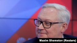 RUSSIA - Russian Deputy Foreign Minister Sergei Ryabkov attends a news conference in Moscow, Russia February 7, 2019.