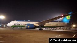 Uzbekistan Airways тасарруфидаги Boeing 787-8 Dreamliner учоқларидан бири