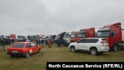 Забастовка дальнобойщиков в Северной Осетии