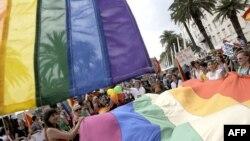 Pamje arkivi nga parada pro homoseksualve në Split, Kroaci - qershor 2012