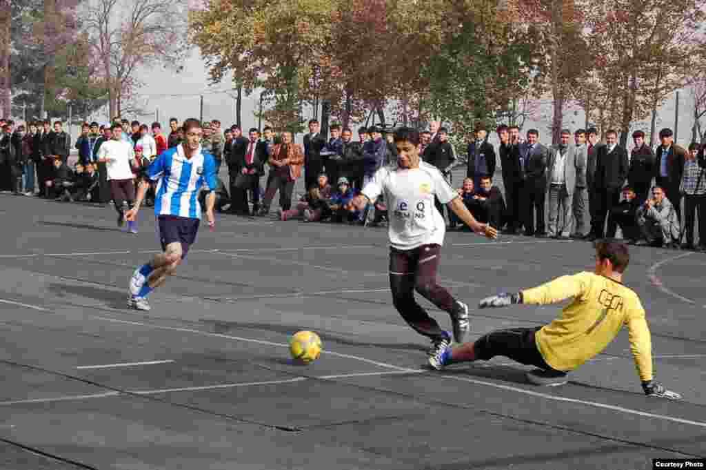 Football championship between universities of Dushanbe, 25Nov2010
