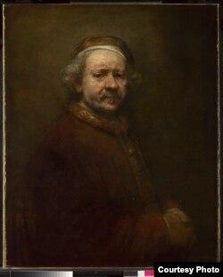 Автопортрет в возрасте 63 лет. 1669 год. Национальная галерея