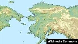 Аляска түбегінің картасы. (Көрнекі сурет)
