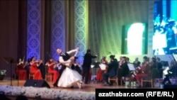 Праздничный концерт в Нефтегазовом культурном Центре, Ашхабад, 15 февраля, 2020.