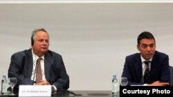 Средба на министерот за надворешни работи Димитров со неговиот грчки колега Коѕиас во Скопје. 31.08. 2017