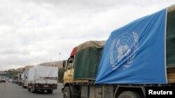 قافلة للأونروا تحاول دخول حي اليرموك المحاصر - 13 كانون الثاني 2014