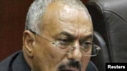 Обраќање на Претседателот Салех во Парламентот во Сана