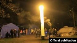 Рятувальники МНС Росії розгорнули містечко життєзабезпечення, Феодосія, Україна